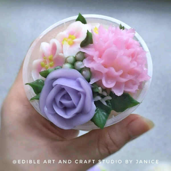 Crystal Jelly Cream flower Pots Workshop1