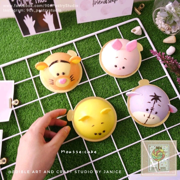 Cute Pooh Chocolate Mousse Cake Workshop0