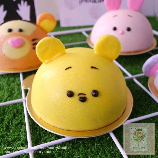 Cute Pooh Chocolate Mousse Cake Workshop2