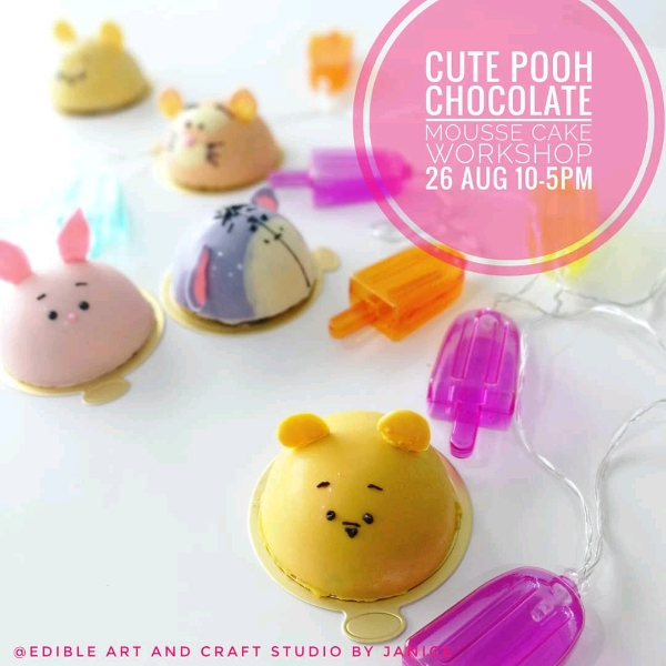 Cute Pooh Chocolate Mousse Cake Workshop (26 Aug)0