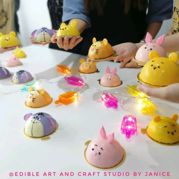 Cute Pooh Chocolate Mousse Cake Workshop (26 Aug)1