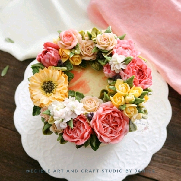6 May Buttercream Flower Party Cake Workshop0