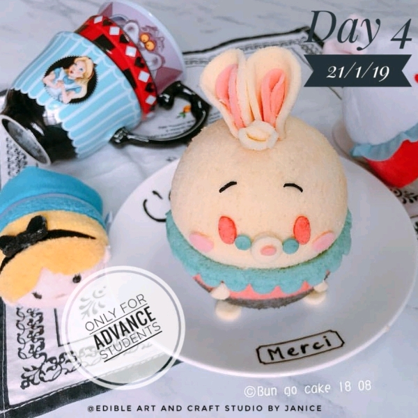 Day 4_ 3D Mr Rabbit Chiffon Cake