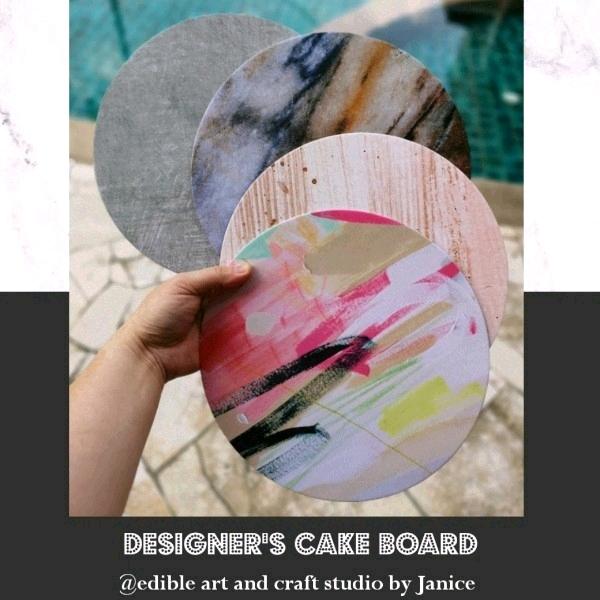 Designer's Cake Board @edibleartbyjanice0
