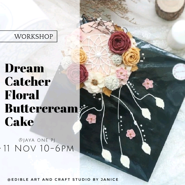 11 Nov_Dream Catcher Floral Buttrrcream Cake Workshop