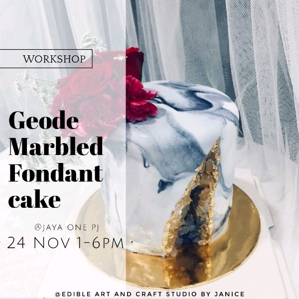 24 Nov_ Geode Fondant Marbled Cake Workshop