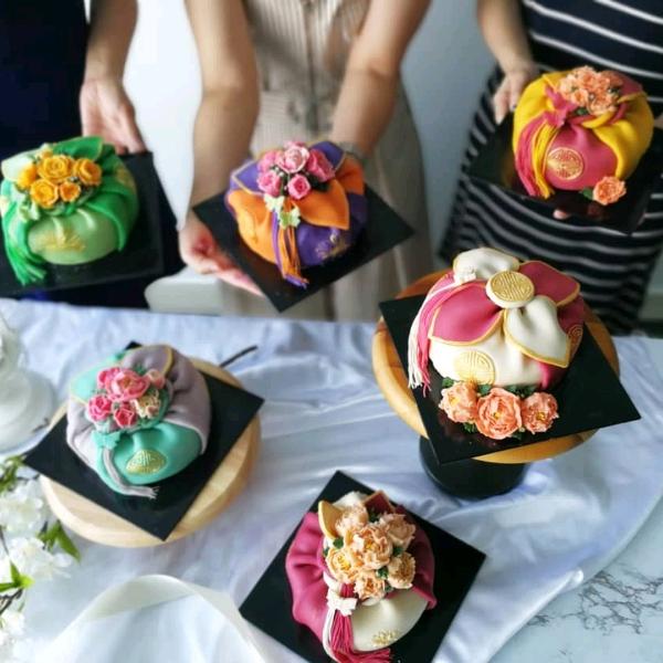 Korean Bean Paste Flower Bojagi Cake0