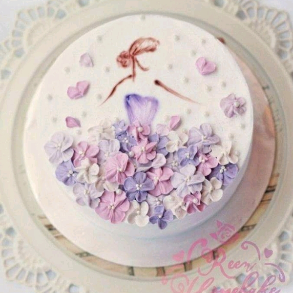 Lady in Flower Dress Cake workshop0