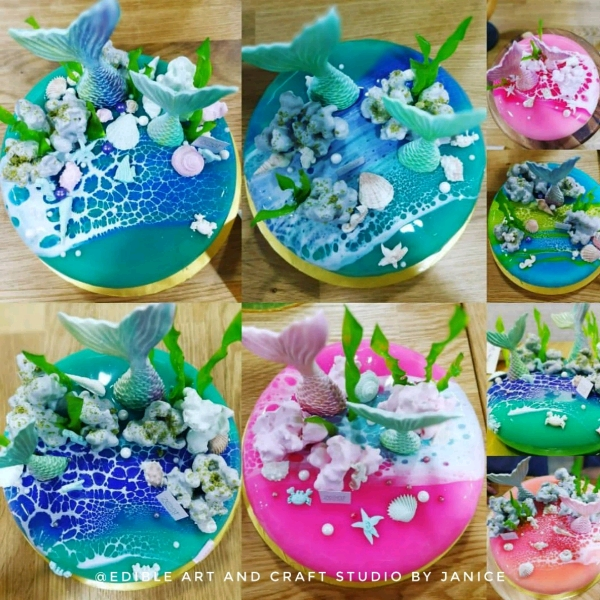 Mermaids Theme Mirror Glaze Entremet Workshop1