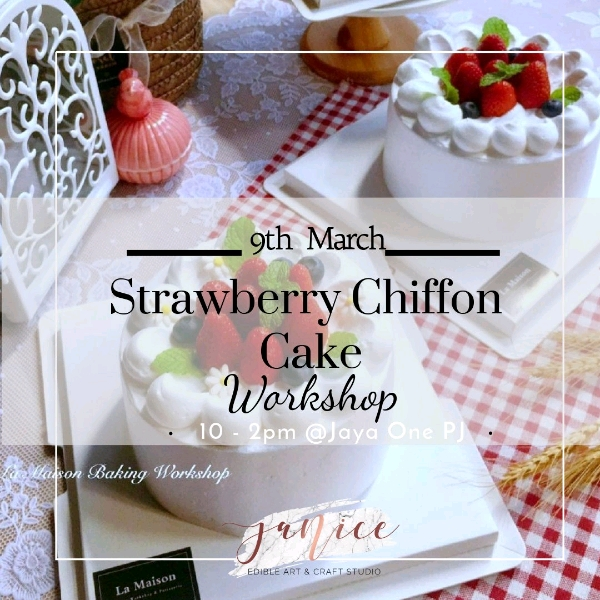 9 Mar_Strawberry Fresh Cream Chiffon Cake
