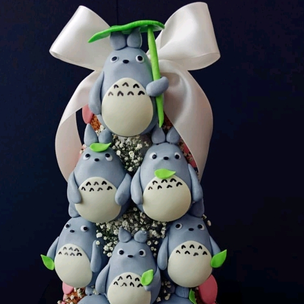 Totoro Themed Fondant Choux Tower0