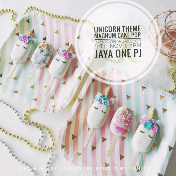 Unicorn Theme Magnum Cake pop Workshop0