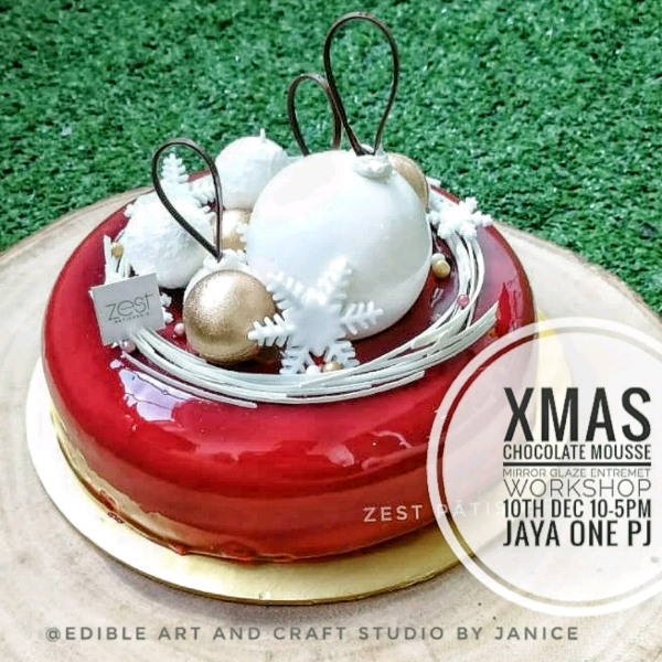 Xmas Theme Mirror Glazed Entremet Workshop0
