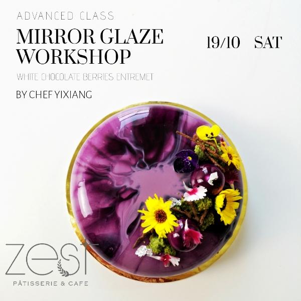 Mirror Glaze Workshop ( White Chocolate Berries)0
