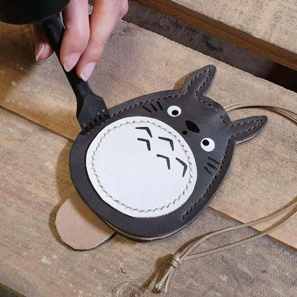 Totoro 皮革钥匙套工坊1