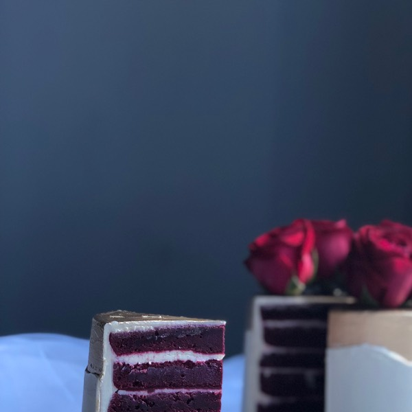 11/05 Classic Fresh Flower Cream Cheese Red Velvet Cake2