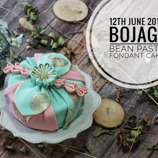 12th Bojagi Bean Paste Fondant Cake0