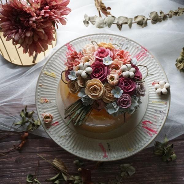 26/8 Korean Winter Rice Cake With Bean Paste Flower Course (pj)0
