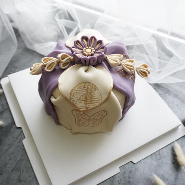 31/3 Bojagi Bean Fondant Cake0