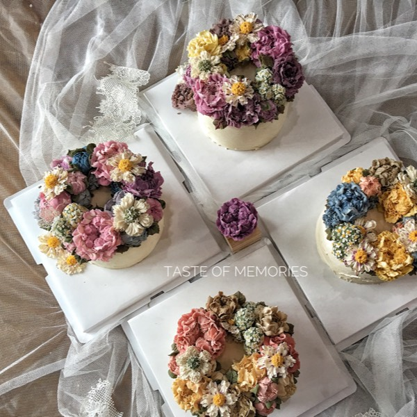 7/9 And 8/9 Realistic Bean Cream And Glossy Buttercream Bouquet Flower (PJ)0