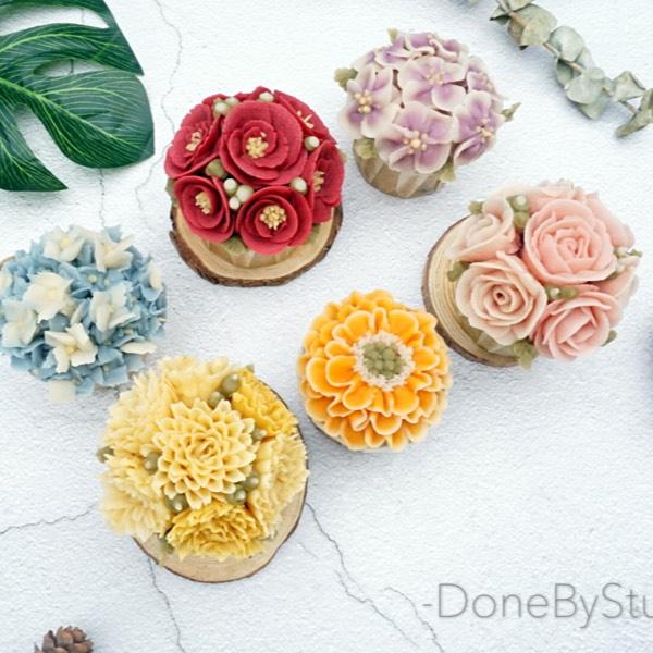 9/01 Bean Paste Flower Cupcake (Cheras)0