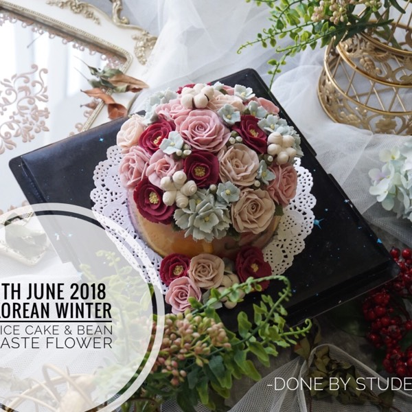 9th And 11th June Korean Flower Piping Course0