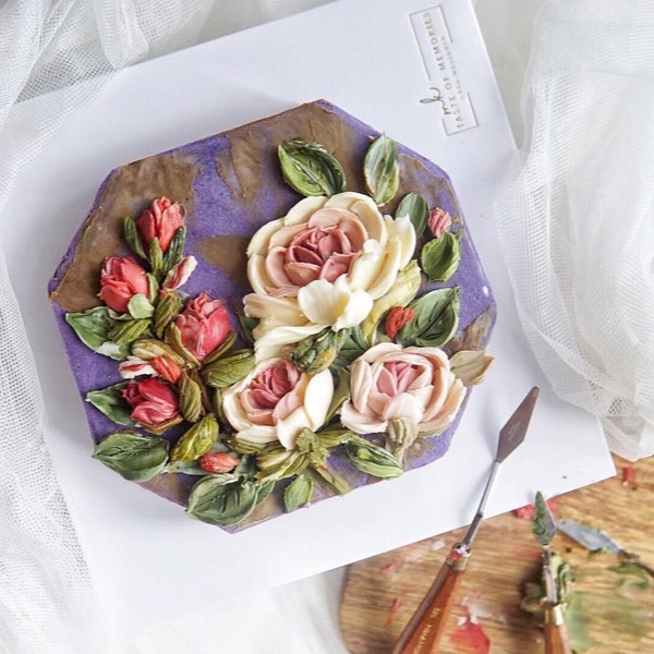 Basic & advance Chocolate Cream Flower0