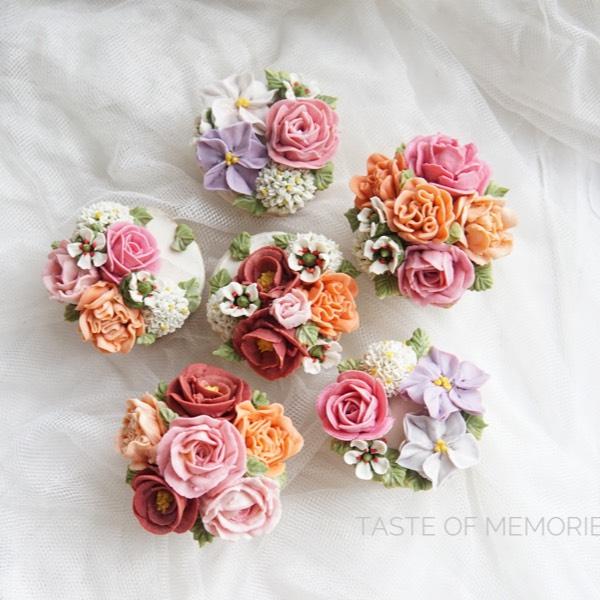 Bean Paste Flower Cupcake ( 28/02)0