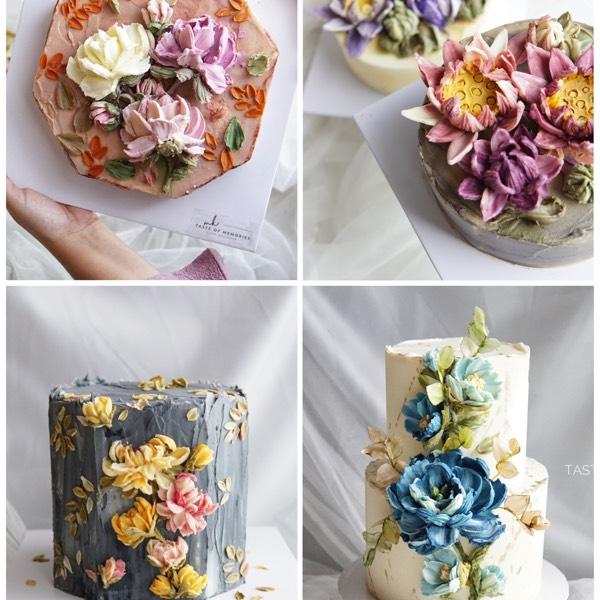 KCDAA Chocolate Cream Palette Knife Flower Sculpture0