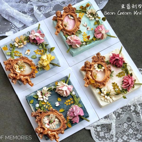 Miri 21/07 Bean Cream Knife Flower0