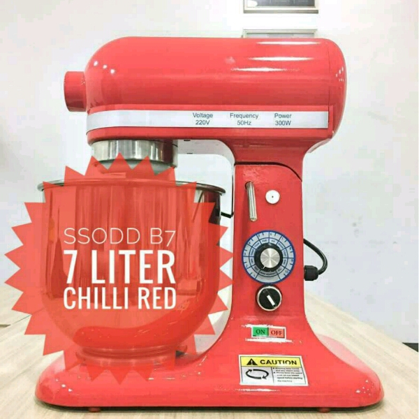 B7 7liter Chili Red Heavy duty Stand Mixer SSODD