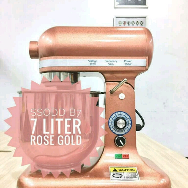 B7 7liter Rose Gold Heavy duty Stand Mixer SSODD