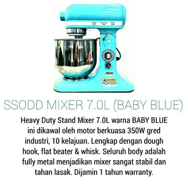 B7 7liter Sky Blue Heavy duty Stand Mixer SSODD1