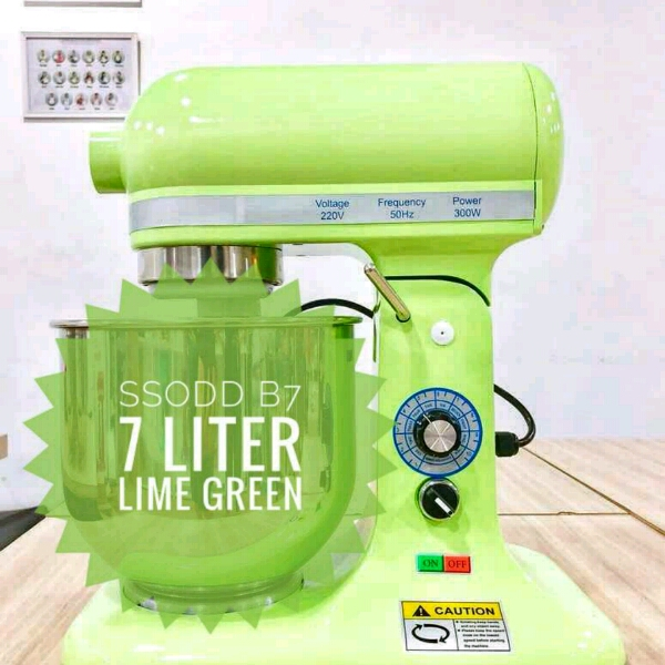 B7 7liter Lime Green Heavy duty Stand Mixer SSODD