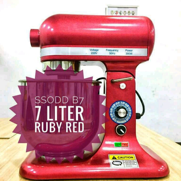 B7 7liter Maroon Red Heavy duty Stand Mixer SSODD