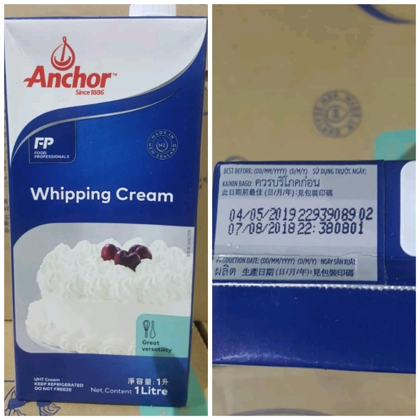 Anchor UHT Whipping Cream 1 Litre