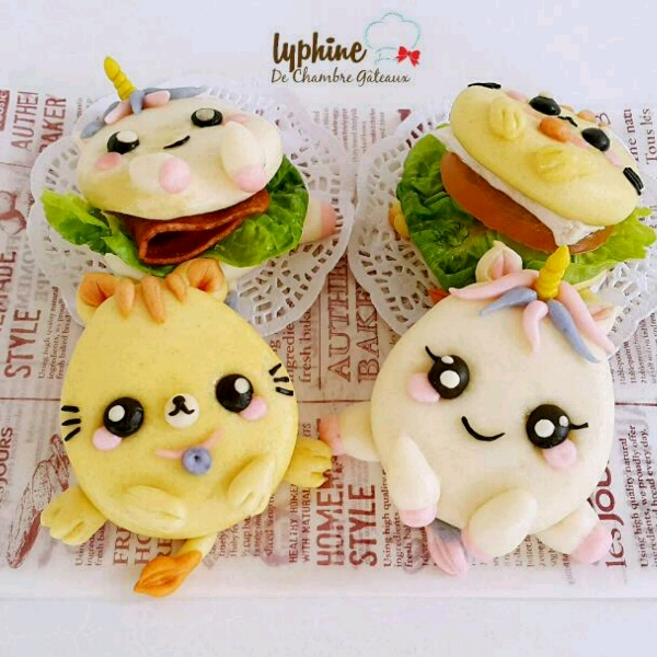 Baby Meow & Baby Unicorn sandwich steamed bun (Hands-on)