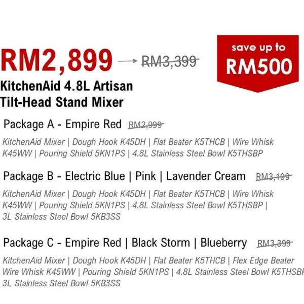 KitchenAid 4.8L Artisan Tilt-Head Stand Mixer2