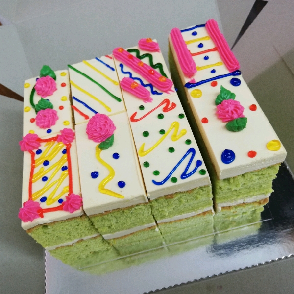 Pandan Old School Buttercream Cake0