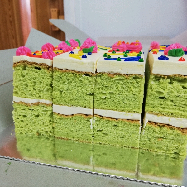Pandan Old School Buttercream Cake1