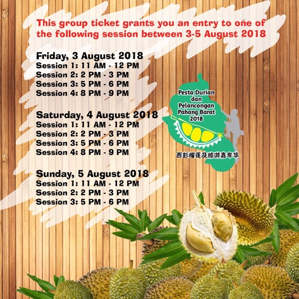 Bentong Durian Festival Early Bird Savings at RM50 Off!1