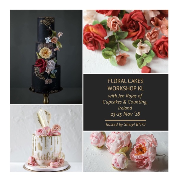 Floral Cakes Workshop - La Vie en Rose1
