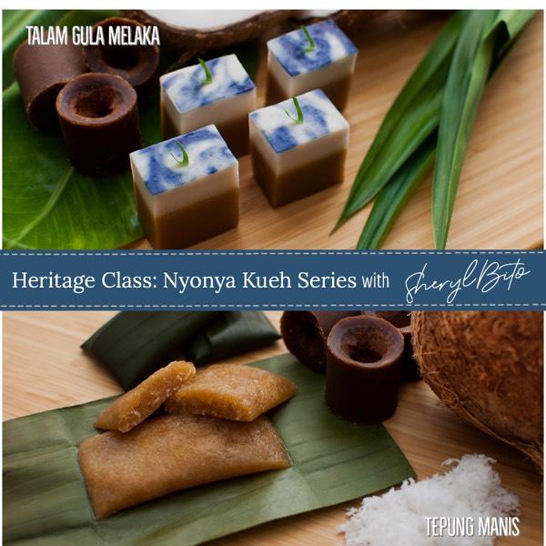 Heritage Class: Nyonya Kueh Series - Talam Gula Melaka & Tepung Manis 1