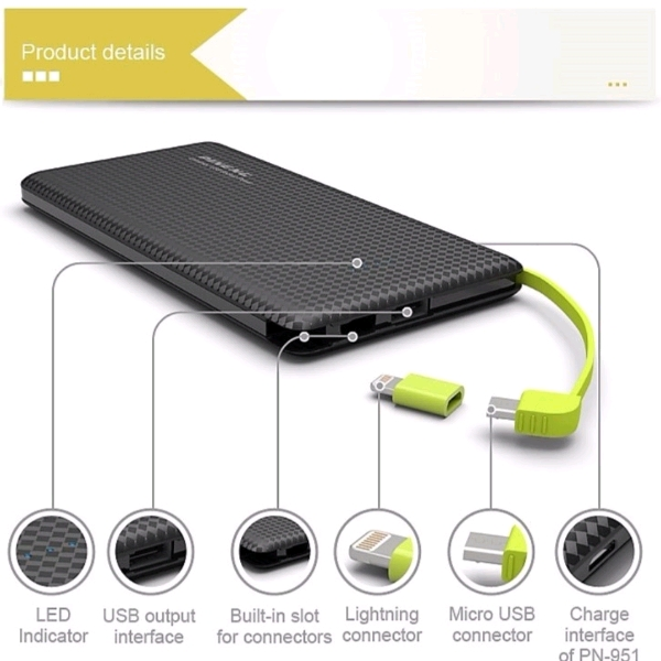 10,000mAh PINENG Powerbank1