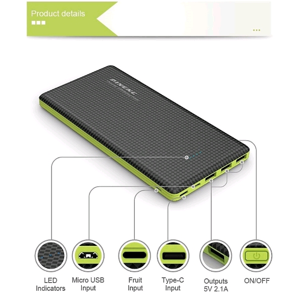 20,000mAh PINENG Powerbank2