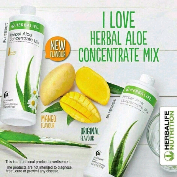 HERBALIFE Herbal Aloe Concentrate Mix (Mango) 473ml
