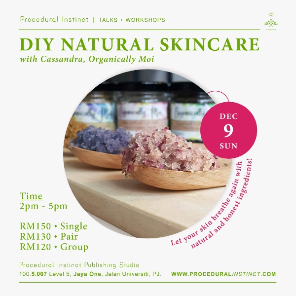 DIY NATURAL SKINCARE ~ Single Ticket