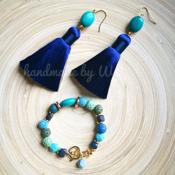 Crafted Bracelet And Earring Set