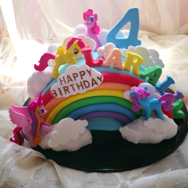 Pony Rainbow Cake With M&M0