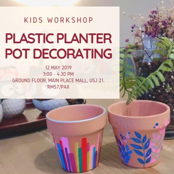 Kids Planter Pot Decorating Workshop0